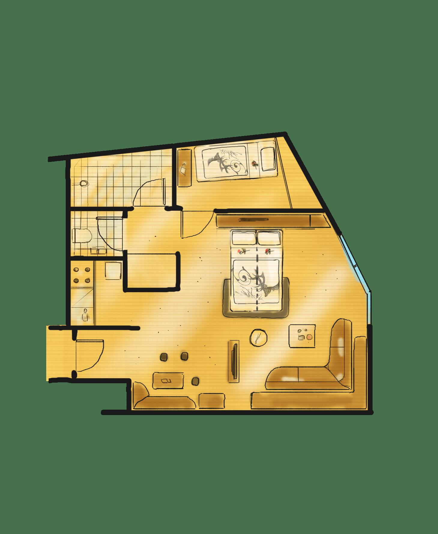 2-Raum-Appartement Thyrsus