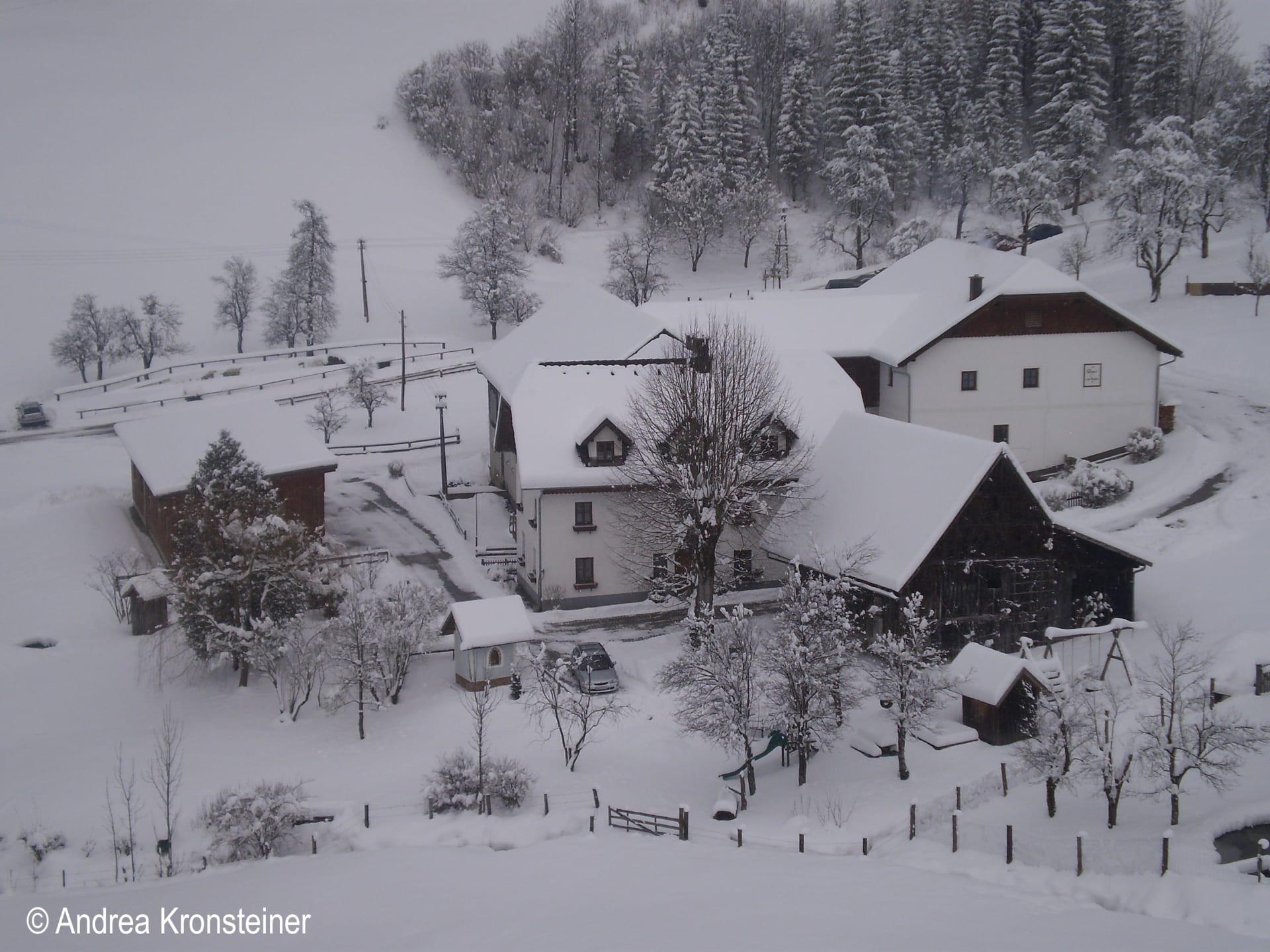Oberrehau - Hofansicht im Winter
