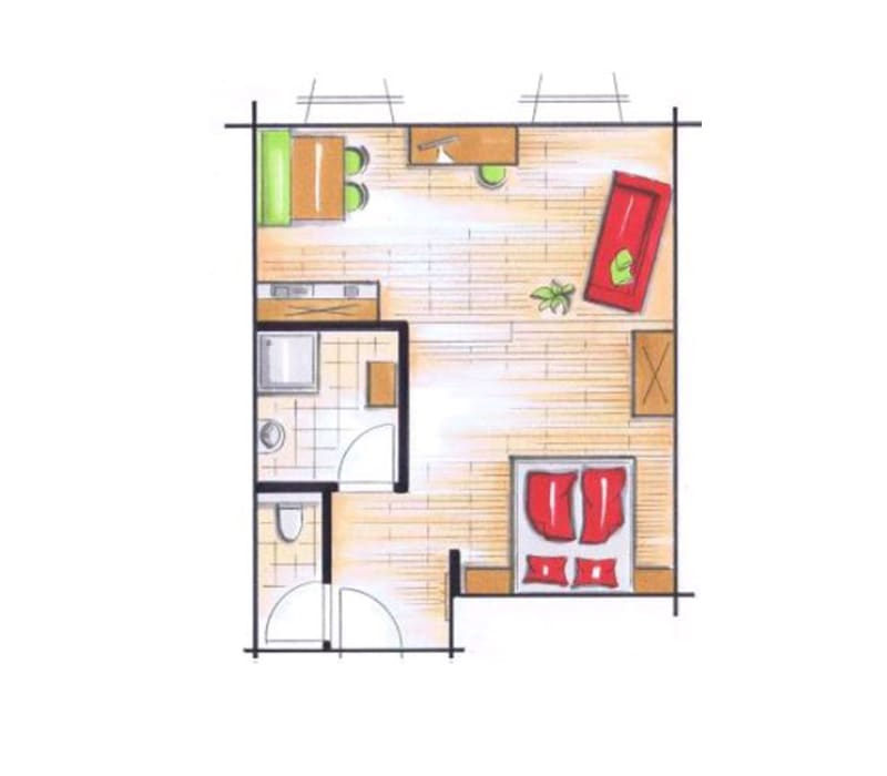 Doppelzimmer Klatschmohn