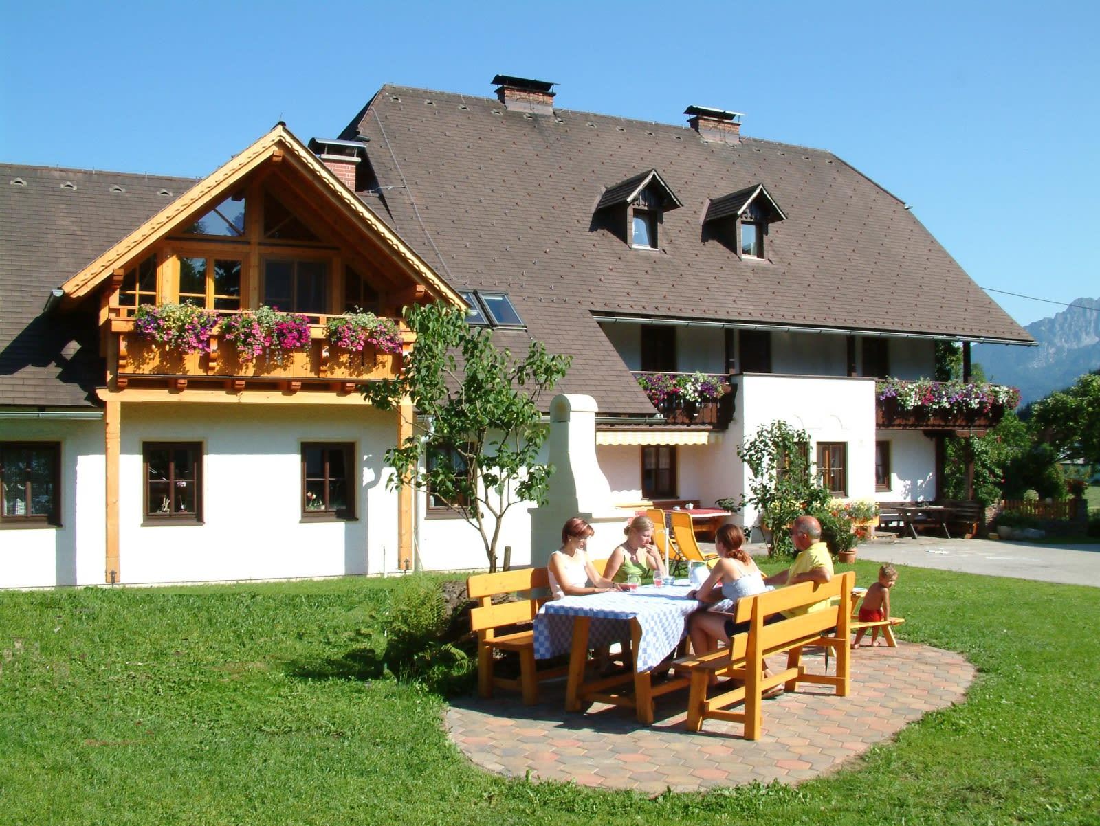 House and farmyard