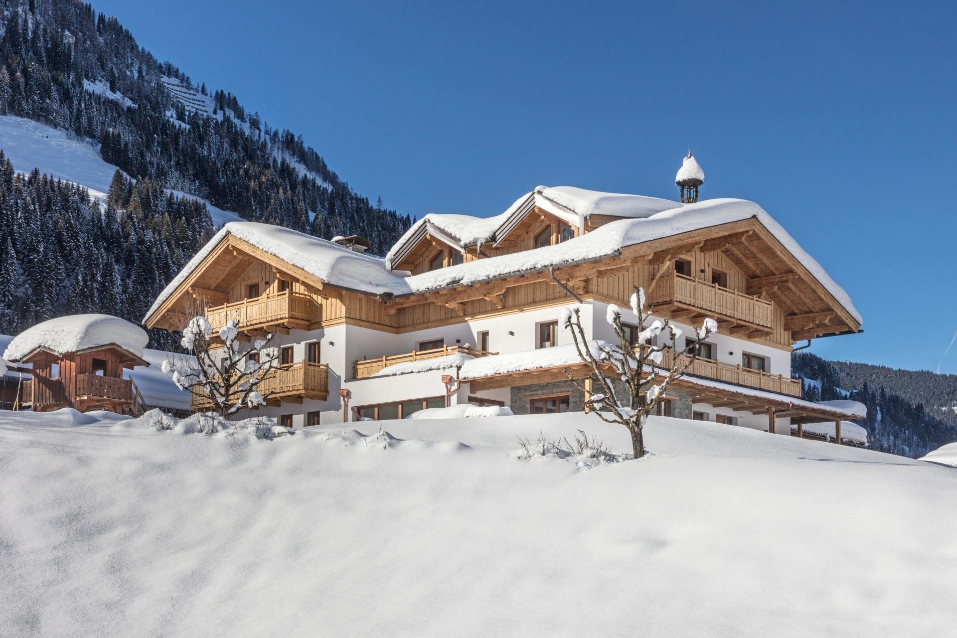 Ansicht unseres Hauses vom Winterwanderweg