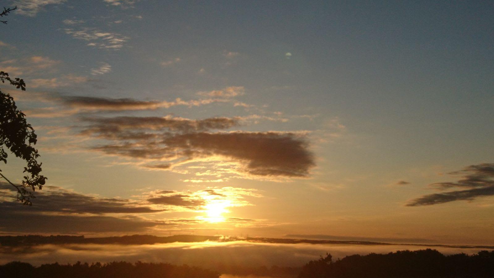 Sonnenuntergang in der Oststeiermark