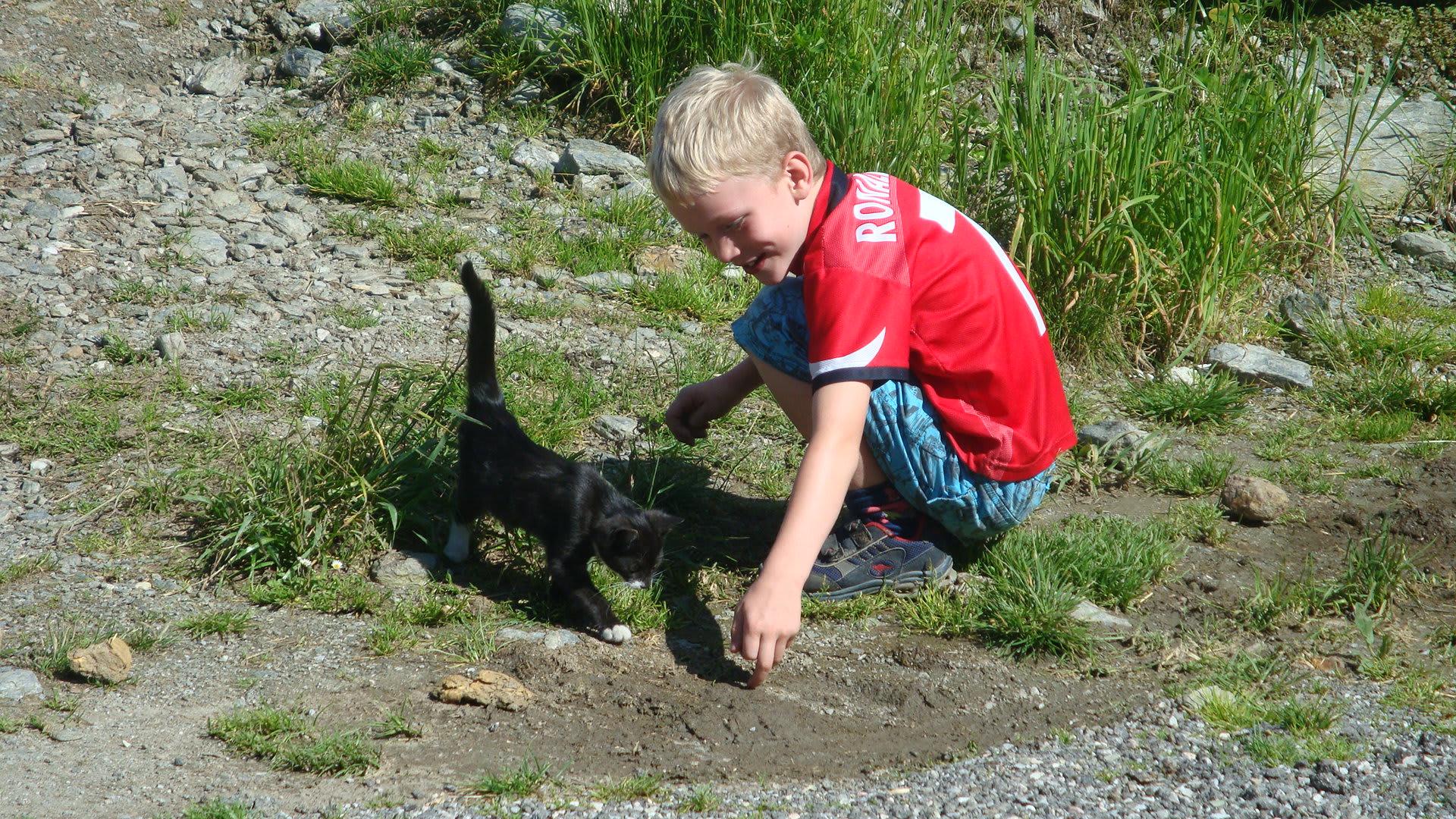 Spielende Kinder am Breierhof
