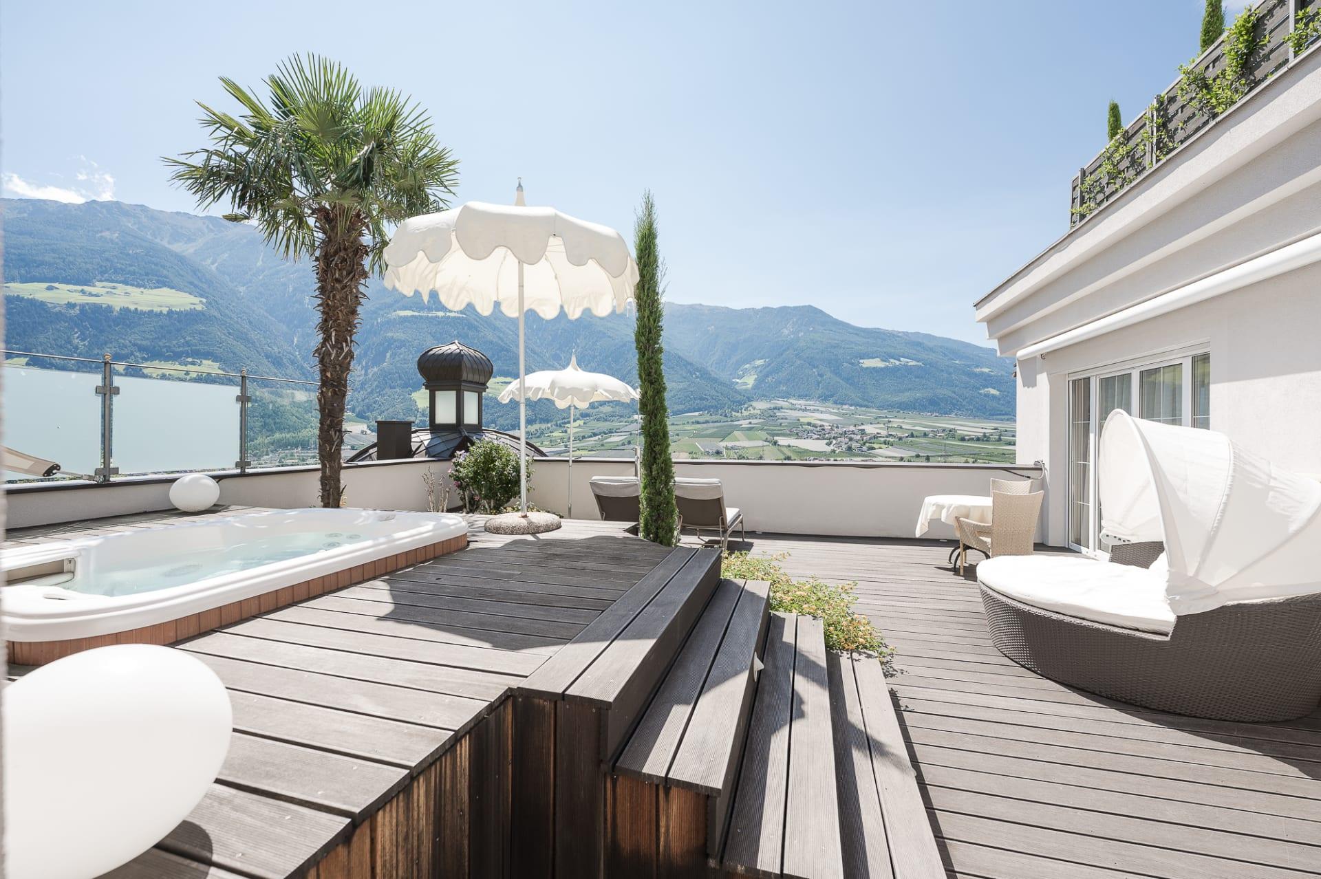 Romantic Dream Suite Malve Terrasse