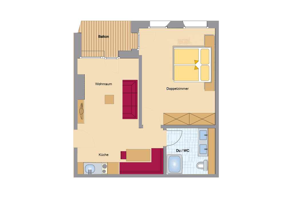 appart suite nevada appart studio appart studio. Black Bedroom Furniture Sets. Home Design Ideas