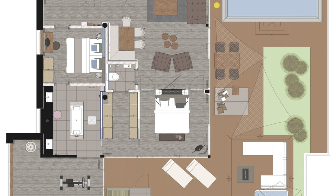 Grundriss Luxury Penthouse Suite DolceVita Premium