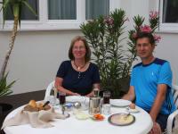 Frühstück im Innenhof