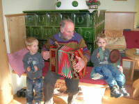 Grandpa with the twins