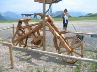 Fahrrad aus Holz am Nassfeld..