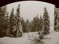 Winteransicht aus dem Schlafzimmer