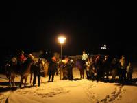 Der Winter auf dem Pferd
