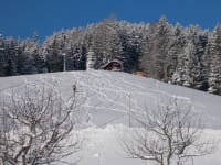 Panoramablick zu unserer Hütte