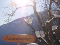 den Panoramablick gibt´s auch im Winter