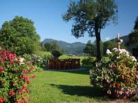 Unser Garten mit Blick nach Weißbriach