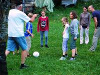 Gemeinsames Fußballspiel