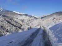Winterblick vom Haus