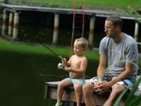 Fischen am Badeteich