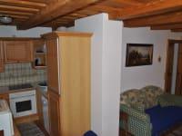 Küche in der unteren Wohnung