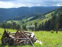 Lagerfeuerplatzu vor der Plinzer Hütte