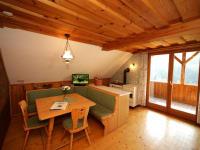 Sitzecke mit Holzherd Talblick