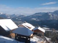 Drautalblick - das Tal liegt 600 m tiefer die Aussicht einfach herrlich!