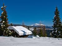 Die Sonnalmhütte versinkt im Schnee