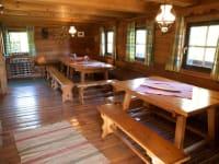 großes Wohnzimmer der Sonnalmhütte