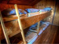 das lustige Bettenlager in der Frido Kordon Hütte. Perfekt für größere Gruppen.