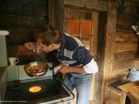 Kochgelegenheit auf dem Holzherd
