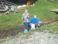 Bächlein vor der Hütte