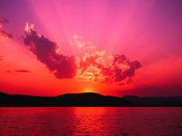 herrlicher Sonnenuntergang...