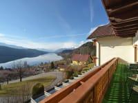 Blick auf den See vom Apartment Alpenrose