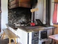Feuerstelle in der Hütte