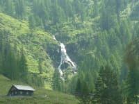 Wasserfall auf der Alm