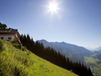 Die Hütten mit Blick ins Mölltal