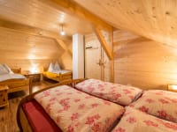4-Bett-Zimmer (Doppelbett und 2 Einzelbetten)