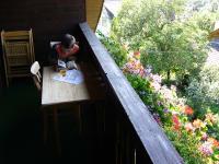 abschalten am Balkon