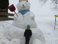 Schneemann, ist der aber groß