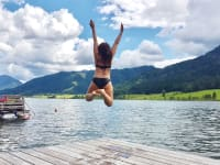 Ein schöner Tag zum Schwimmen