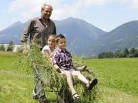 Kleintierfütterung mit Bauer Heinz