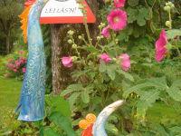 Keramikvögel - Gartendeko