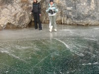 Eislaufen am Weißensee