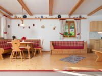 Wohn - Essbereich Ferienwohnung Dobratschblick