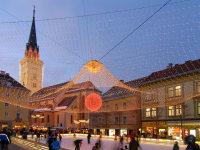 Eislaufen am Rathausplatz in Villach