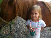 Verena mit Pony Lucy