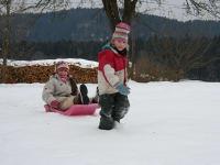 Spiel und Spaß im Schnee