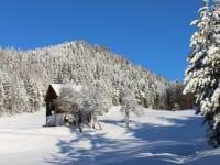 Prebernighütte im Winterkleid