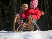 winter schlittenfahrt bauernhof