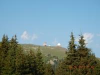 Blick zum Gipfel im Sommer