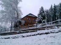 Haus in Winterlandschaft